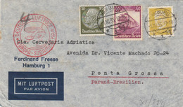 LETTERA 1935 GERMANIA AMBURGO VS BRASILE TIMBRI ARRIVO (KP439 - Cartas