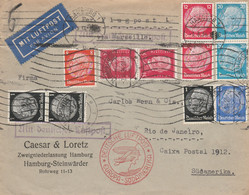 LETTERA 1934 GERMANIA VS SUDAMERICA -TIMBRI ARRIVO (KP438 - Cartas