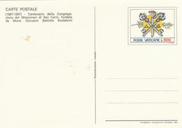 INTERO POSTALE VATICANO L.500 1987 NUOVO (KP548 - Interi Postali