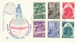 FDC VATICANO 1960 ANNO MONDIALE DEL RIFUGIATO (KP550 - FDC