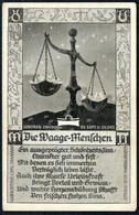 E0707 - Waage Tierkreiszeichen - M. Sack Spandau - Astronomia