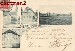 GRUSS AUS GUNSTETT ALSACE CARTE ALLEMANDE ELSASS 1900 - Andere Gemeenten