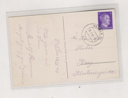 SLOVENIA, GERMANY WW II VELDES BLED 1943 Nice Postcard To Austria - Slovenia