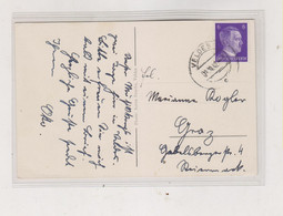 SLOVENIA, GERMANY WW II VELDES BLED 1942 Nice Postcard To Austria - Slovenia