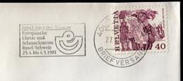 Switzerland Basel 1981 / BASEL 81, Europaische Uhren Und Schmuckmesse, Watch, Jewelry / Exposition, Fair / Machine Stamp - Autres Expositions Internationales