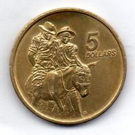 AUSTRALIA, 5 Dollars, Aluminum-Bronze, Year 1990, KM #134 - Decimal Coinage (1966-...)