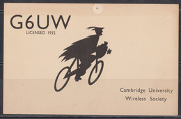 Cambridge University Carte Radio Amateur. - Radio Amatoriale