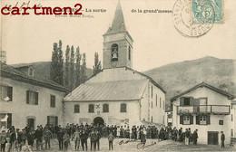 ALDUDES LA SORTIE DE LA GRAND'MESSE MICHEL ERRECA RELIGION PYRENEES 64 - Aldudes