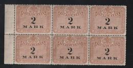 Deutschland / Stempelmarke 2 Mark, 6er-Block ** (A782) - Cartas