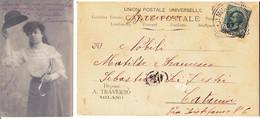 Cartolina - Immagine Fotografica In Bianco E Nero Di Una Donna .b - Fotografía