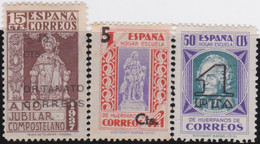 Espana     .    Y&T   .   Bienfaisance   3 Timbres     .        *      .      Neuf Avec Gomme   .   /   .   Mint-hinged - Wohlfahrtsmarken