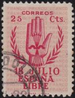 Espana     .    Y&T        .    637      .         O      .       Oblitéré   .   /   .     Cancelled - 1931-50 Used