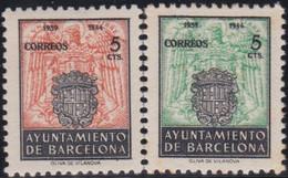Barcelona      .    Y&T        .   67/68       .        *      .      Neuf Avec Gomme   .   /   .   Mint-hinged - Barcelona