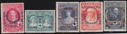 Espana     .    Y&T        .   306/310         .        *      .      Neuf Avec Gomme   .   /   .   Mint-hinged - 1889-1931 Kingdom: Alphonse XIII