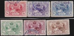 Espana     .    Y&T        .     236/241  (239: *)     .         O      .       Oblitéré   .   /   .     Cancelled - 1889-1931 Reino: Alfonso XIII
