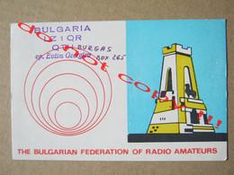 QSL RADIO AMATEUR CARD - THE BULGARIAN FEDERATION OF RADIO AMATEURS - SOFIA, BULGARIA ( 1973 ) - Radio Amatoriale