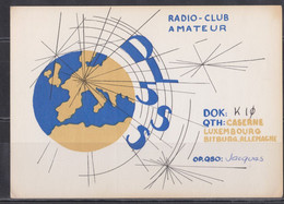 Luxembourg Carte Radio Amateur. - Radio Amatoriale
