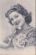 Cartolina - Immagine Fotografica In Bianco E Nero Di Una Donna .i - Fotografía