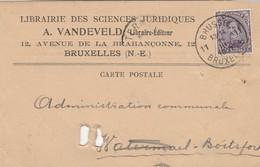 Cp Librairie Des Sciences Juridiques A. Vandevelde - 1915-1920 Albert I