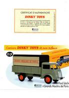 """DINKY TOYS CAMIONS: REF 25JV FORD BACHE """"GRAND MOULIN DE PARIS"""" - FICHE TECHNIQUE & CERTIFICAT D'AUTHENTICITE - Catalogues & Prospectus"""