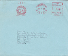 THE EAST ASIATIC COMPANY. DANEMARK. CIRCULEE KOBENHAVN A AMSTERDAM, PAYS BAS. ANNEE 1963.  -LILHU - Lettere