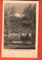 ROH1-07 Sierre Grand Hotel Château Bellevue. RARE. Cachet 1912  Pour Cornol Jura - VS Valais