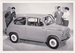 """Automobile : Voitures De Tourisme : """" FIAT 600  """" - Année 1955  -  C.p.m. - - Turismo"""
