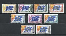 France - Frankreich Service 1963-71 Y&T N°S27 à 35 - Michel N°DCE7 à 15 *** - Conseil De L'Europe - Service