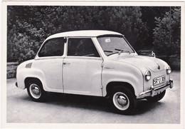 "Automobile : Voitures De Tourisme : "" GLAS GOGGOMOBIL  "" -  Année 1955  -  C.p.m. - - Turismo"