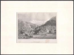 Der Himmalajah (Himalája). Acélmetszet, Papír, Kissé Foltos, Paszpartuban, 11x16,5 Cm - Incisioni