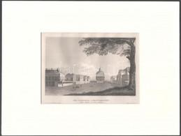 A Virginai-Egyetem. Acélmetszet, Papír, Paszpartuban, 10,5x16 Cm - Incisioni