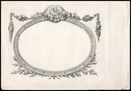 Cca 1840 Díszes Rézmetszetű Oklevél Sablon 35x24 Cm - Incisioni