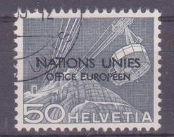 Schweiz Dienstmarke UNO: SBK-Nr. 9 (Technik Und Landschaft, 1950) Gestempelt - Servizio