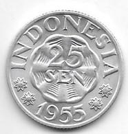 *indonesia 25 Sen 1955 Km 11   Bu/ms65 - Indonesia
