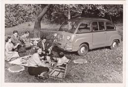 """Automobile : Voitures De Tourisme : """" FIAT MULTIPLA """" -  Année 1956  -  C.p.m. - - Turismo"""