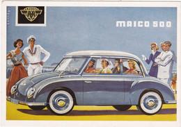 "Automobile : Voitures De Tourisme : "" MAICO 500 "" -  Illustration -  C.p.m. - - Turismo"