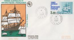 Enveloppe   FDC   1er  Jour   T.A.A.F    Aviso  Transport   EURE   1987 - FDC