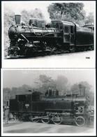 Régi Mozdonyok, 3 Db Modern Előhívás és Fotó, 13×18 Cm - Non Classificati
