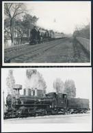 Régi Mozdonyok, 3 Db Modern Előhívás és Fotó, 13×18 Cm - Autres Collections