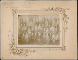 Cca 1894 Iskolai Tabló, Rajta Laczkó Géza (1884-1953) író, Lechner Gedeon (1885-1914) Vegyész, Kurucz Aladár újságíró 27 - Autres Collections