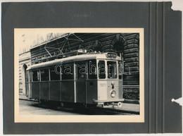 Cca 1960 Síncsiszoló Villamos, Albumlapra Ragasztott Fotó, 13×18 Cm - Autres Collections
