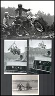 Motoros Fotók Vegyes Tétele, Különféle Helyszíneken és Eltérő Időpontokban Készült 13 Db Vintage Fotó és Vagy Mai Nagyít - Autres Collections