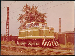 4 Db Régi Mozdonyokat ábrázoló Fotó / Old Locomotives 4 Photos 24x12 - 17x12 Cm - Autres Collections