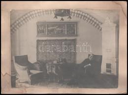 Cca 1900 Enteriőr Fotó 24x18 Cm - Autres Collections