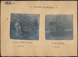 1928 Óbudai Jelmezbál, 2 Db Kartonra Ragasztott Fotó, 8x8 Cm - Autres Collections