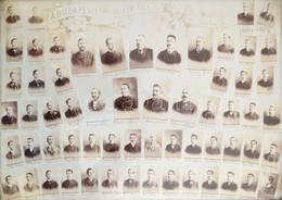 1905 A Budapesti VII. Ker. Áll. Főgimnázium VIII. A Osztálya, Tablófotó, Nevesített Portrékkal, 27×37 Cm - Autres Collections