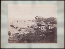 Cca 1910 Baja Tempio Di Venere & Castello + Salviati Venezia, Fotó Kartonra Ragasztva, 24,5x19,5 Cm, 20,5x25,5 Cm - Autres Collections