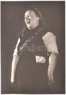 Cca 1980-90 Bankó Gáborné, Hévízgyörk, Summásdalokat énekel, Fotó, Papír, Jelzés Nélkül, Hátoldalán Feliratozott. 50x35  - Autres Collections