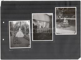 1941 Bp., A Városligeti Virágkiállítás Képei, 9 Db Fotó 3 Db Kartonon, 8,5x11,5 Cm - Autres Collections