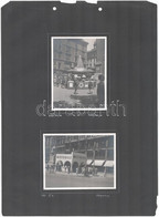 1941 Bp., Vörösmarty Téri 1941-es Könyvnap 2 Fotója, 1941. VI. 6., Nemzeti Könyvtár, MEFHOSZ Standjaival, 2 Db Fotó Albu - Autres Collections
